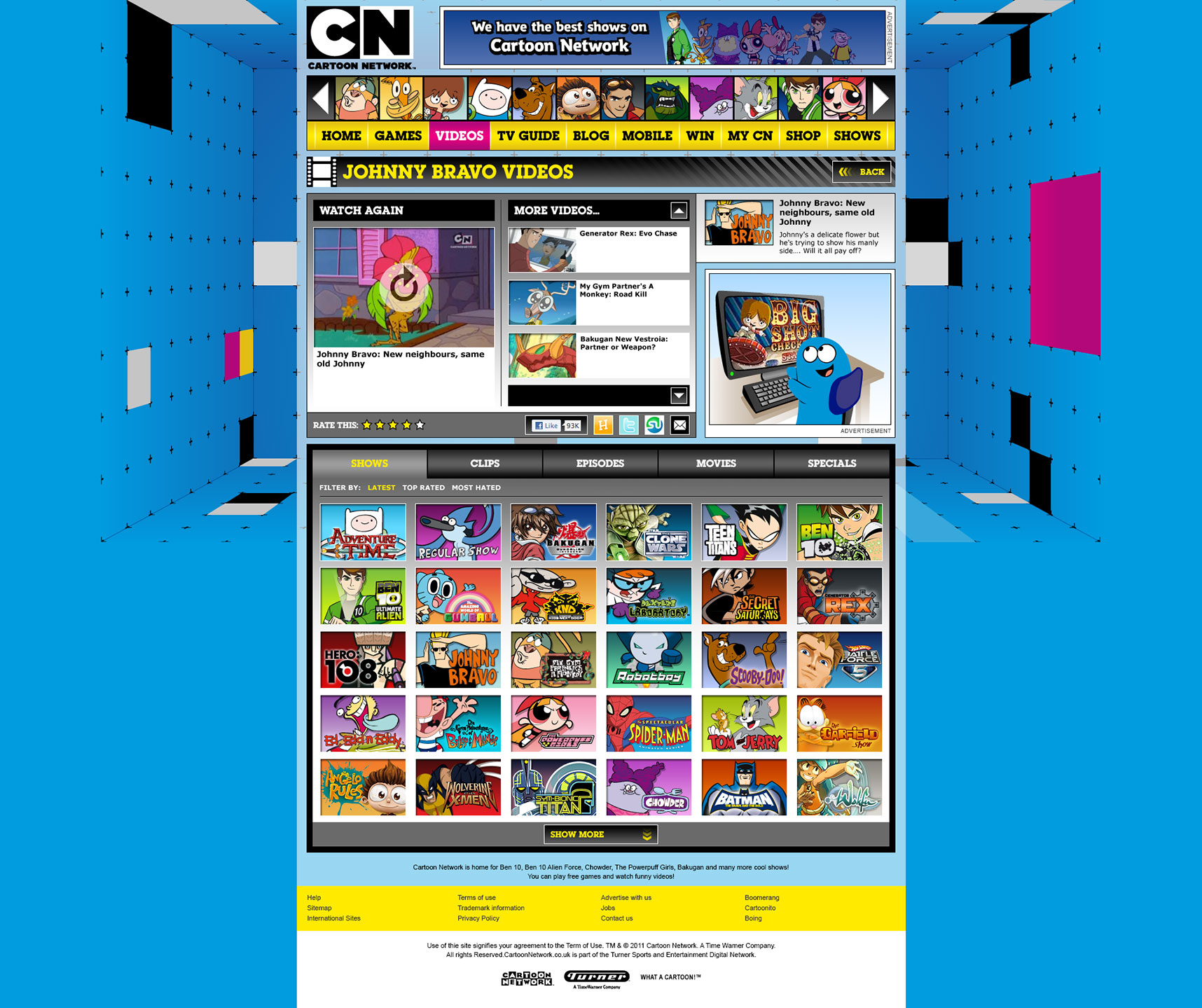 Cartoon Network Website Page Pictures To Pin On Pinterest