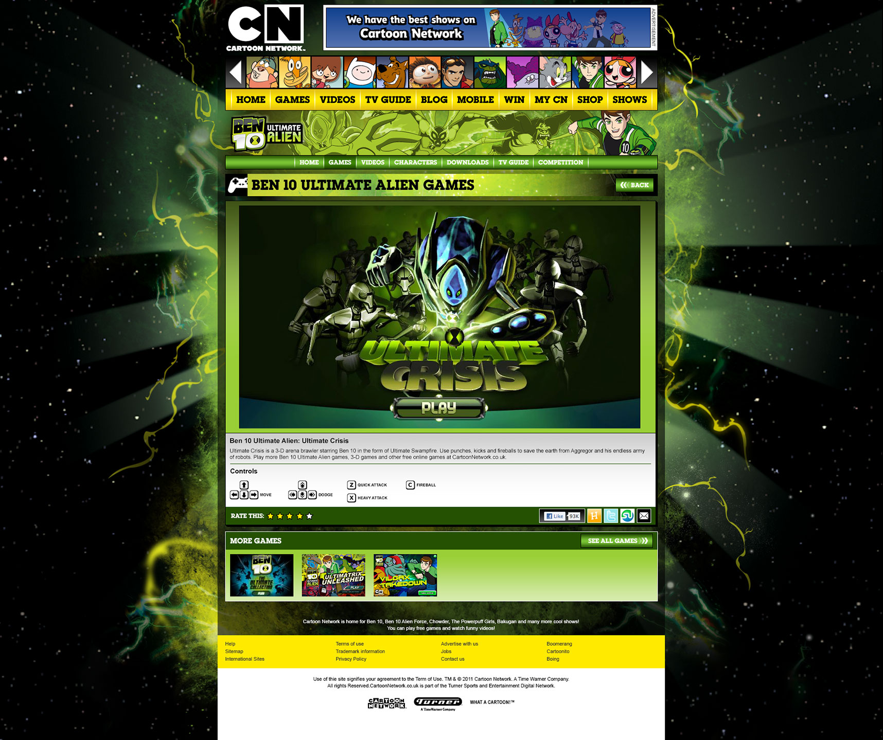 ben 10 ultimate alien crisis game online